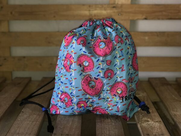 mochila donuts azul